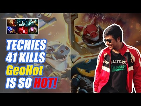 GeoHot Is So Hot! 41 Kill With Carry Techies - Dota 2