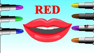 Learn Colors with Lipstick  Colours Lipstick Videos   Learning Colors For Children Kids
