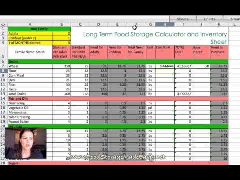 Long Term Food Storage Calculator