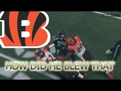 31 UNANSWERED POINTS IN SEATTLE | CINCINNATI BENGALS GAMEPLAY | MADDEN 18 RANKED MATCH
