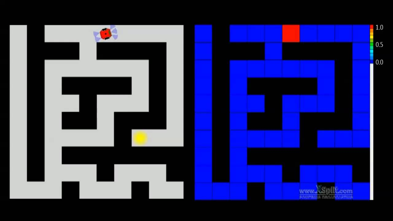 Localization and Path-Finding by a Robot in a Maze (Bayesian Belief  Networks and A-star)