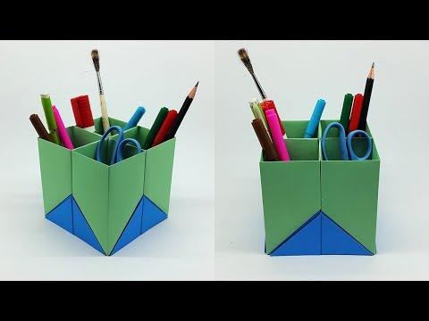 How to Make Pen Stand Easy [Paper Pen Holder] - DIY Paper Pencil Holder