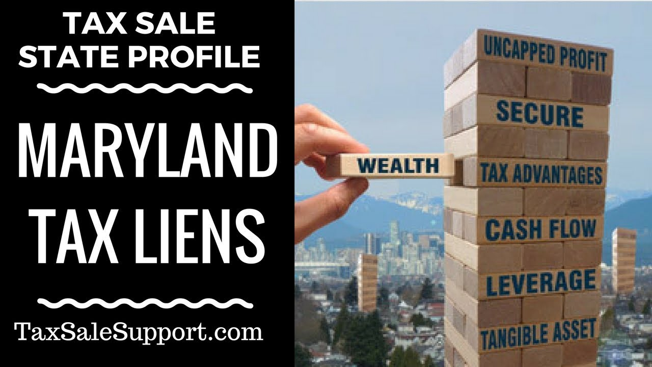 Maryland Tax Lien Certificates How Tax Sales In Md Work Youtube