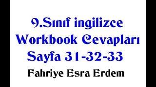 9.Sınıf İngilizce Çalışma Kitabı Cevapları Sayfa 31-32-33 MEB 2018-2019