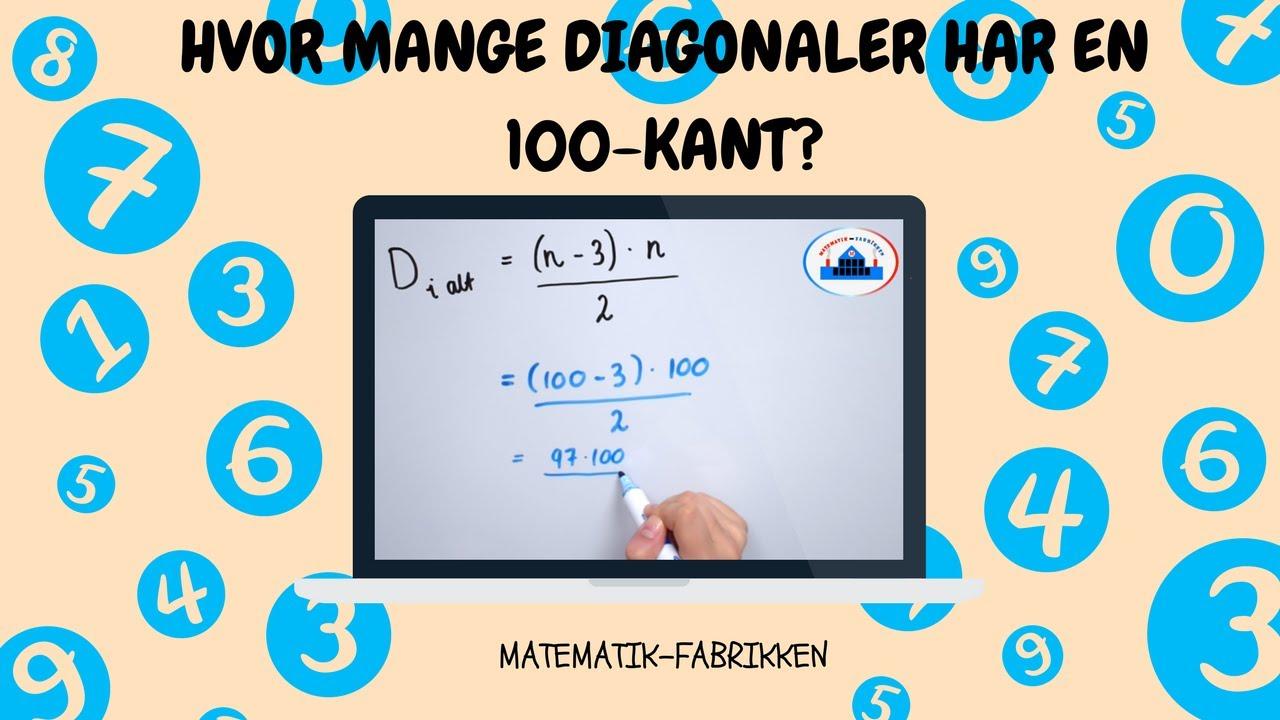 Antal Diagonaler I En N-Kant (Vilkårlig Polygon)