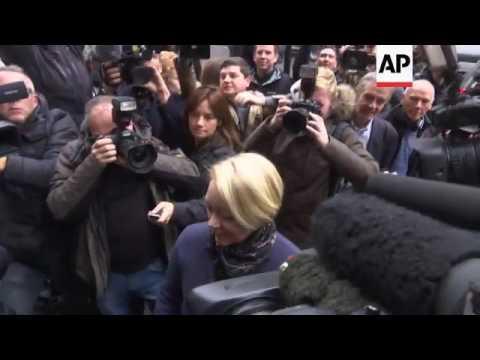 Close shot of Swedish prosecutor arriving