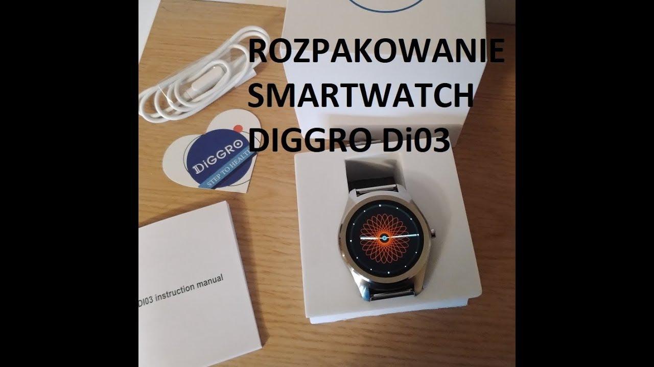 Diggro Di03 Smartwatch Rozpakowanie GearBest