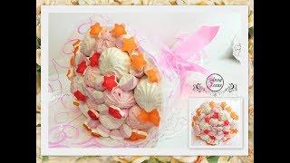 БУКЕТ ИЗ ЗЕФИРА МАРМЕЛАДА И СУФЛЕ Простой мастер класс How To Make A Marshmallow Flower Bouquet