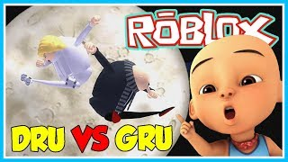 GRU AGAINST DRU!! S. S. HELPS GRU-ROBLOX UPIN IPIN