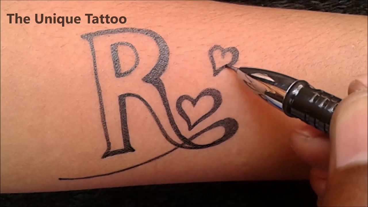 Download latest R tattoos designs on hand |