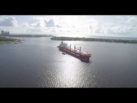 "Arrival of ""Four Nabucco"" at Port of Palm Beach"