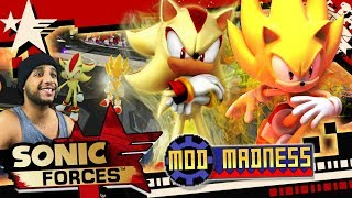 Sonic Forces (PC 4K 60FPS) SUPER SONIC & SUPER SHADOW TAG TEAM - Mod Madness