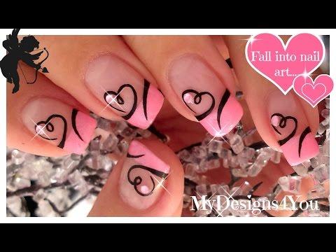 Easy Valentine's Day Nail Art | Diseño de Uñas San Valentín ♥