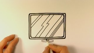 How to Draw a Cartoon Flat Screen Television