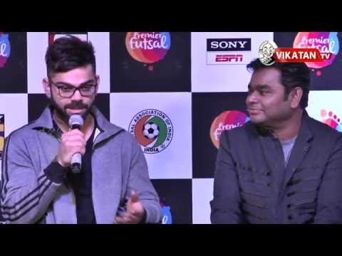 Virat Kohli admires AR and to sing for him | kohli | ARRahman