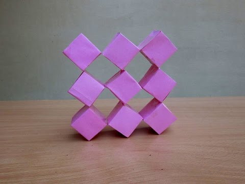 How to Make a Transforming Paper Cube - Easy Tutorials - YouTube