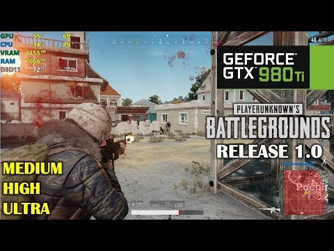 GTX 980 Ti | PUBG 1.0 Release - 1080p Ultra, High and Medium - Full Match