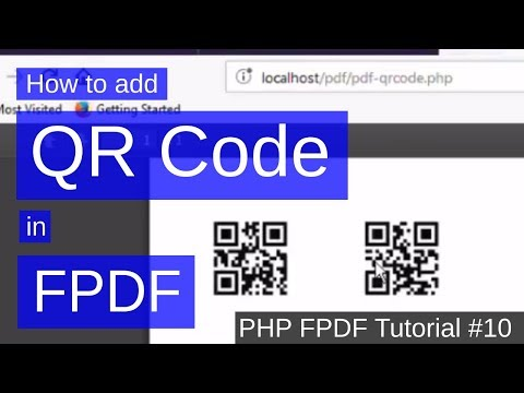 How to add QR Code in PDF | PHP FPDF Tutorial #10 - YouTube