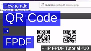 How to add QR Code in PDF | PHP FPDF Tutorial #10