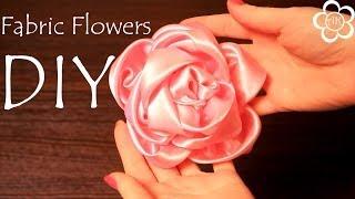 Интерьерный Цветок из атласа Мастер Класс / DIY Fabric Flowers(Меня зовут Настя, и я рада приветствовать вас на своем канале, на котором представлены мастер класс по канза..., 2014-06-20T05:30:00.000Z)