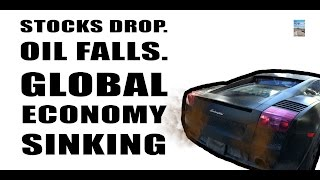 Oil Falls And Drags Down U.S. Stock Market as Global Economy Enters CRISIS MODE!