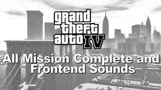 Grand Theft Auto IV  All Mission Complete and Frontend Sounds