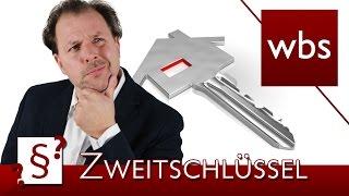 Darf mein Vermieter einen Zweitschlüssel haben? | Rechtsanwalt Christian Solmecke