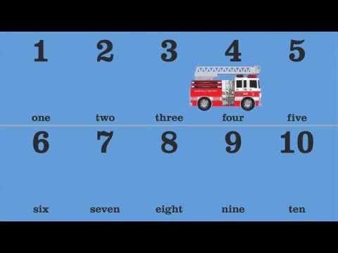 Tiếng Anh Cho Bé. Cùng Học Tiếng Anh Với Xe Chữa Cháy Từ 1 Đến 10  Phần 1