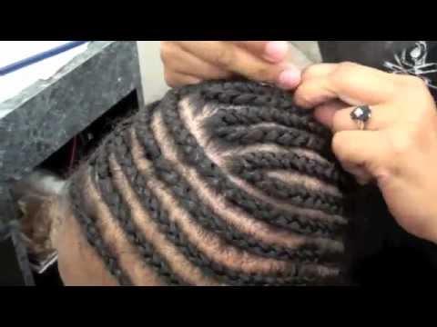 cornrow weave foundation braid youtube