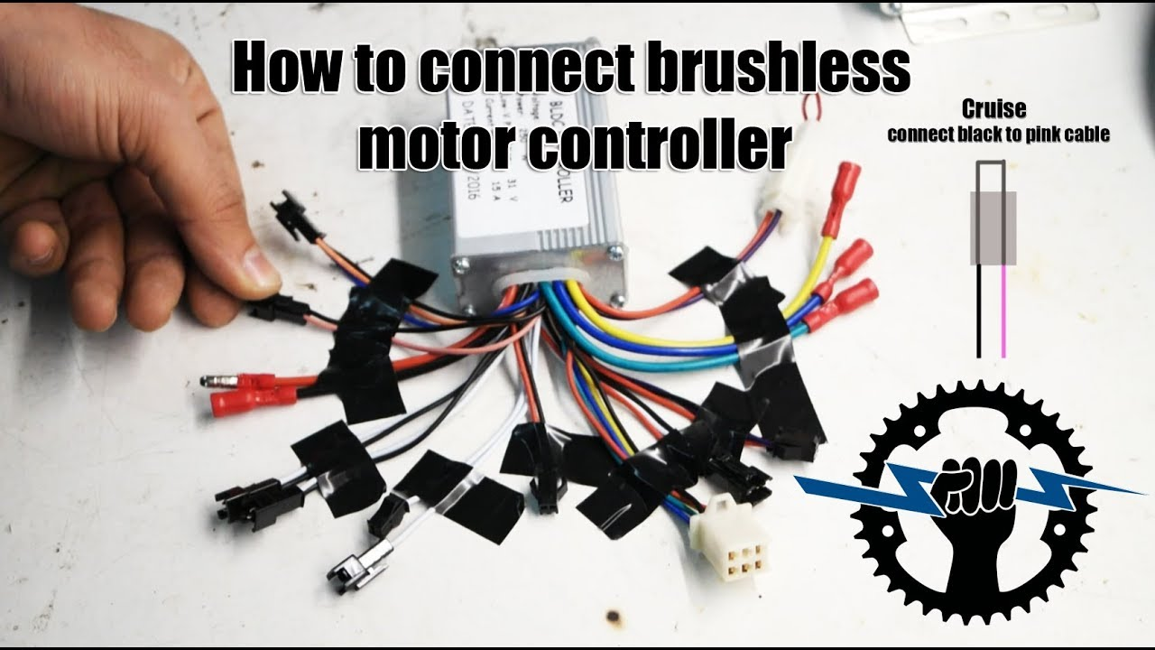 How to connect brushless motor controller wires 250W 36V (Wire assemblies)  YouTube