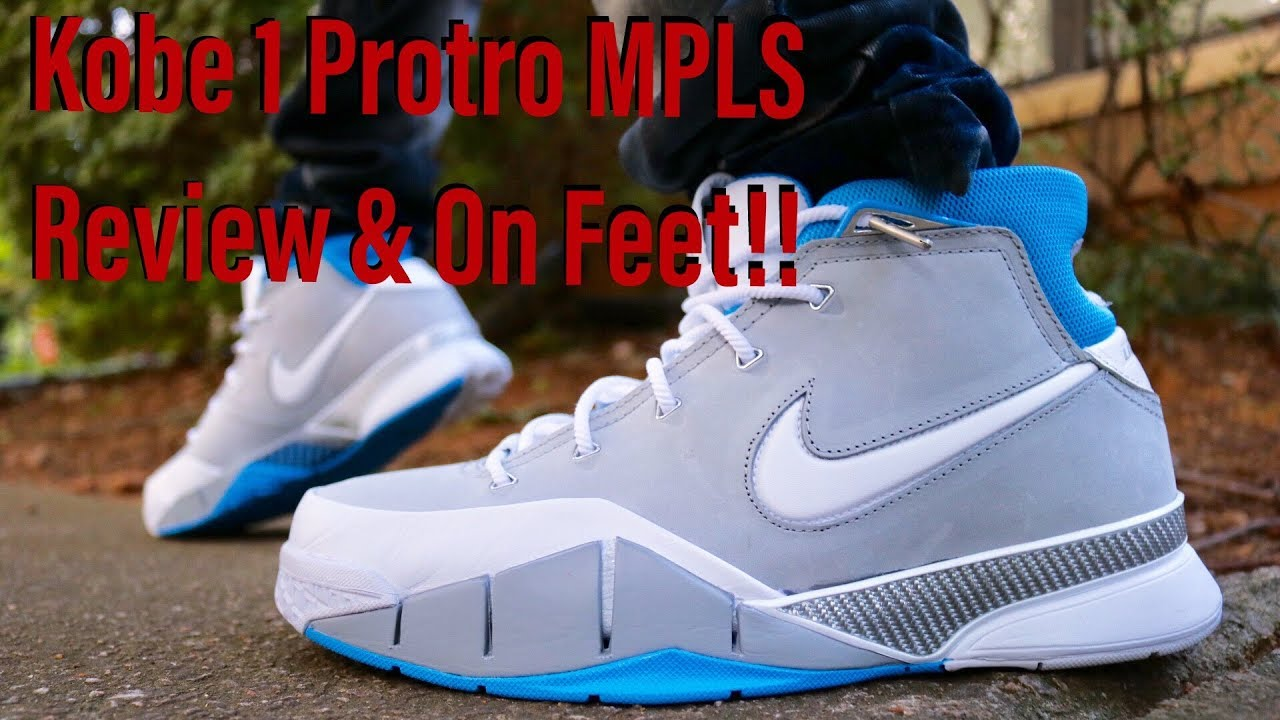 the latest 09518 29838 Nike Kobe 1 Protro MPLS Review   Lit On and Off Feet Looks!!