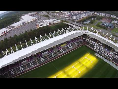 Swansea Liberty Stadium DJI Phantom 2 Vision Plus flight