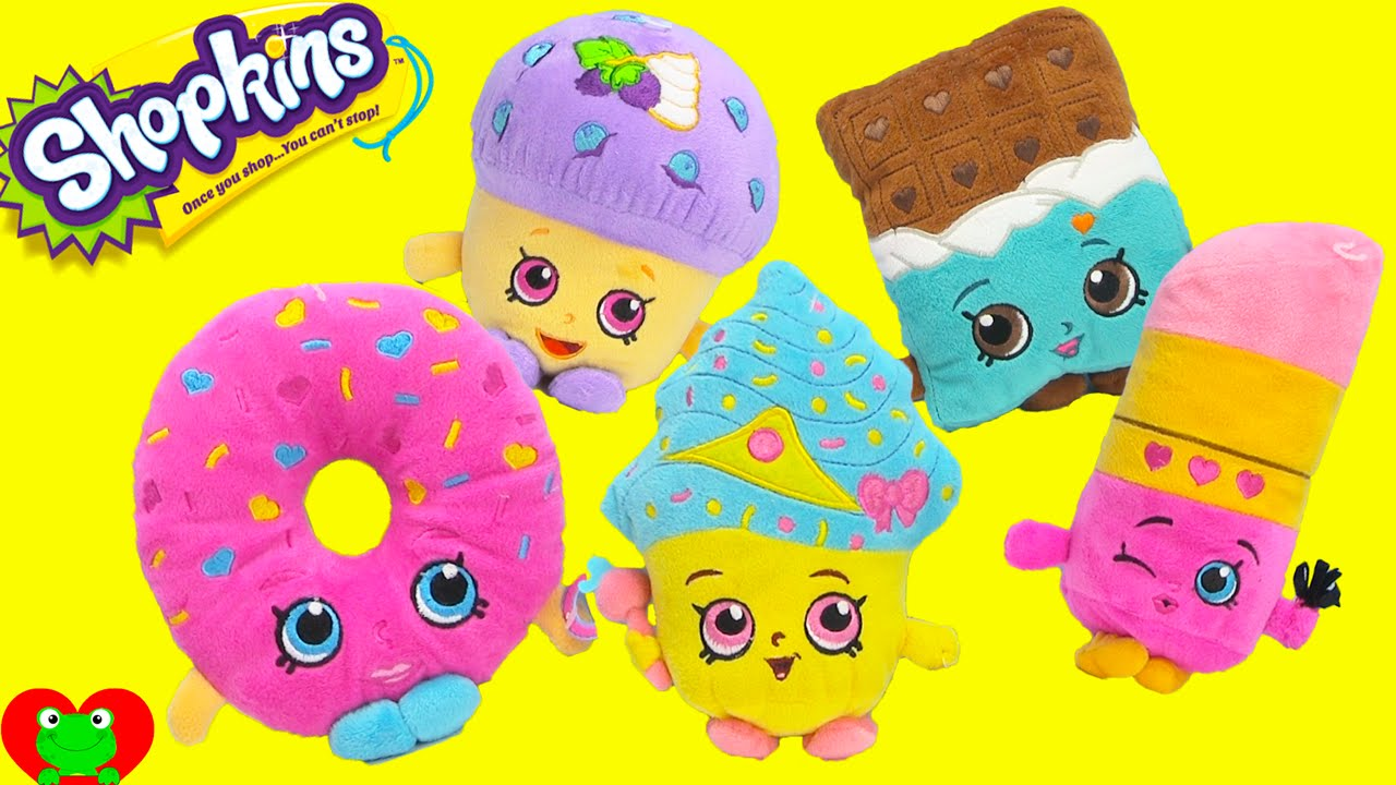New Shopkins Plushies With Limited Edition Cupcake Queen And More