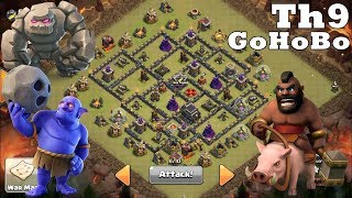 TH9 GoHoBo War Attack Strategy 2018 | 3 Star Strategy w/ Low Heroes | Clash Of Clans | CoC