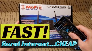 😱 FAST Rural Internet via the MoFi 4500 4G LTE Router  [MoFi 4500 Router Review]