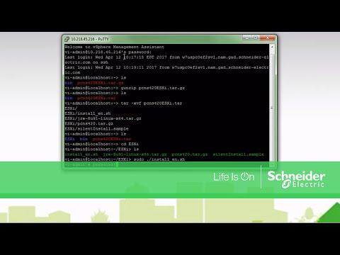 Installing PowerChute Network Shutdown on VMware vMA | Schneider Electric  Support