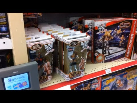 "WWE ACTION INSIDER: ToysRus elite MOTHERLOAD sale store wrestling aisle mattel ""grims toy show"""
