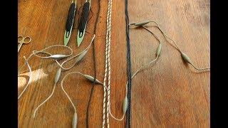 Как срастить между собой два конца плетёного шнура или верёвки. Поставить бандаж.