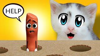 ПРАНКИ НА 1 АПРЕЛЯ! Кто Сделает СМЕШНОЙ ТИКТОК кот МАЛЫШ или Кошка МУРКА?