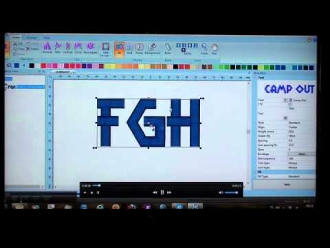 Bes Embroidery Lettering Software Youtube