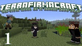 Terrafirmacraft Reloaded - E01 - Our Little Hut (Minecraft)