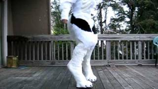 Werewolf Costume/stilt progress 3