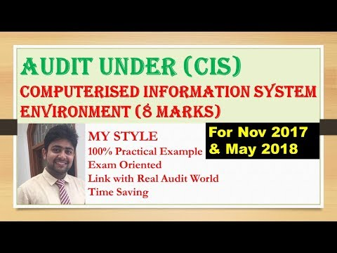Audit under Computerised Information System (CIS) Environment| CIS Environment| CA Final Audit| CIS