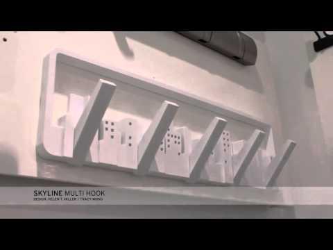 UMBRA DESIGN SKYLINE APPENDIABITI DA PARETE MURO 5 GANCI ATTACCAPANNI - YouTube