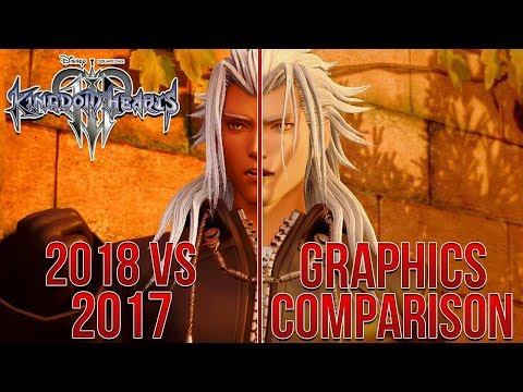 Kingdom Hearts 3 - 2018 VS 2017 Graphics Comparison - Improved Character Models, Lighting and More