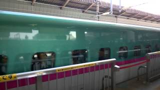 E5 series trainsets (Shinkansen) starts from Tokyo Station. E5系 東京駅から開始し