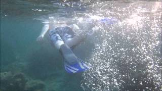 Snorkelling at Fontana Amorosa, Akamas, Cyprus