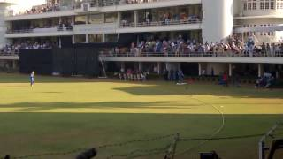 M.S.DHONI entry at brabourne stadium,last match of captain ship of BCCI,must watch.