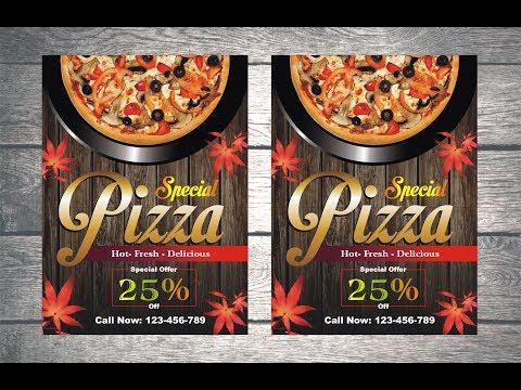Pizza Restaurant Flyer Design - Coreldraw Tutorial