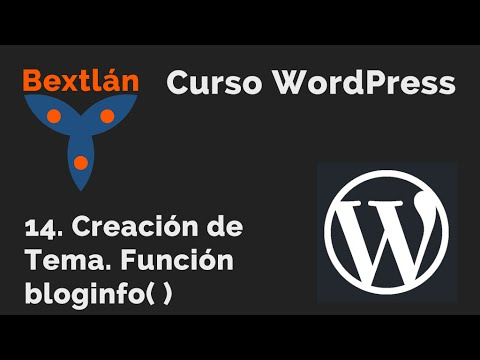 Curso WordPress: 14. Creación de Tema. Función bloginfo( ) - YouTube